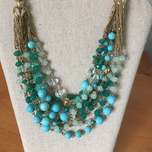 STELLA & DOT Turquoise color MALDIVES Necklace
